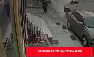 Sultangazi'de minibüs yayaya çarptı