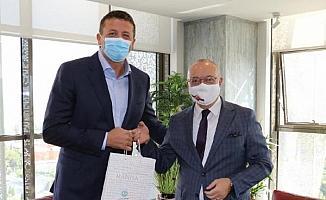 TBF Başkanı Türkoğlu'ndan Cengiz Ergün'e ziyaret