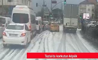 Tuzla'da korkutan köpük