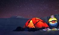 Uludağ zirvede yıldızlar altında kamp keyfi