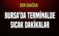 Bursa terminalinde büyük kovalamaca