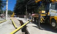 Bursa'da dağ yöresinde doğalgaz heyecanı