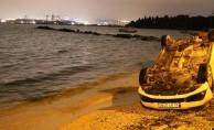 Tuzla'da feci kaza! Denize uçmaktan son anda kurtuldu