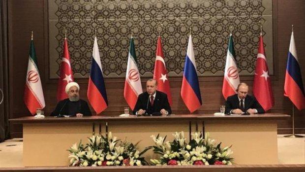 Suriye zirvesi... Erdoğan-Putin-Ruhani zirvesi'nde önemli açıklama